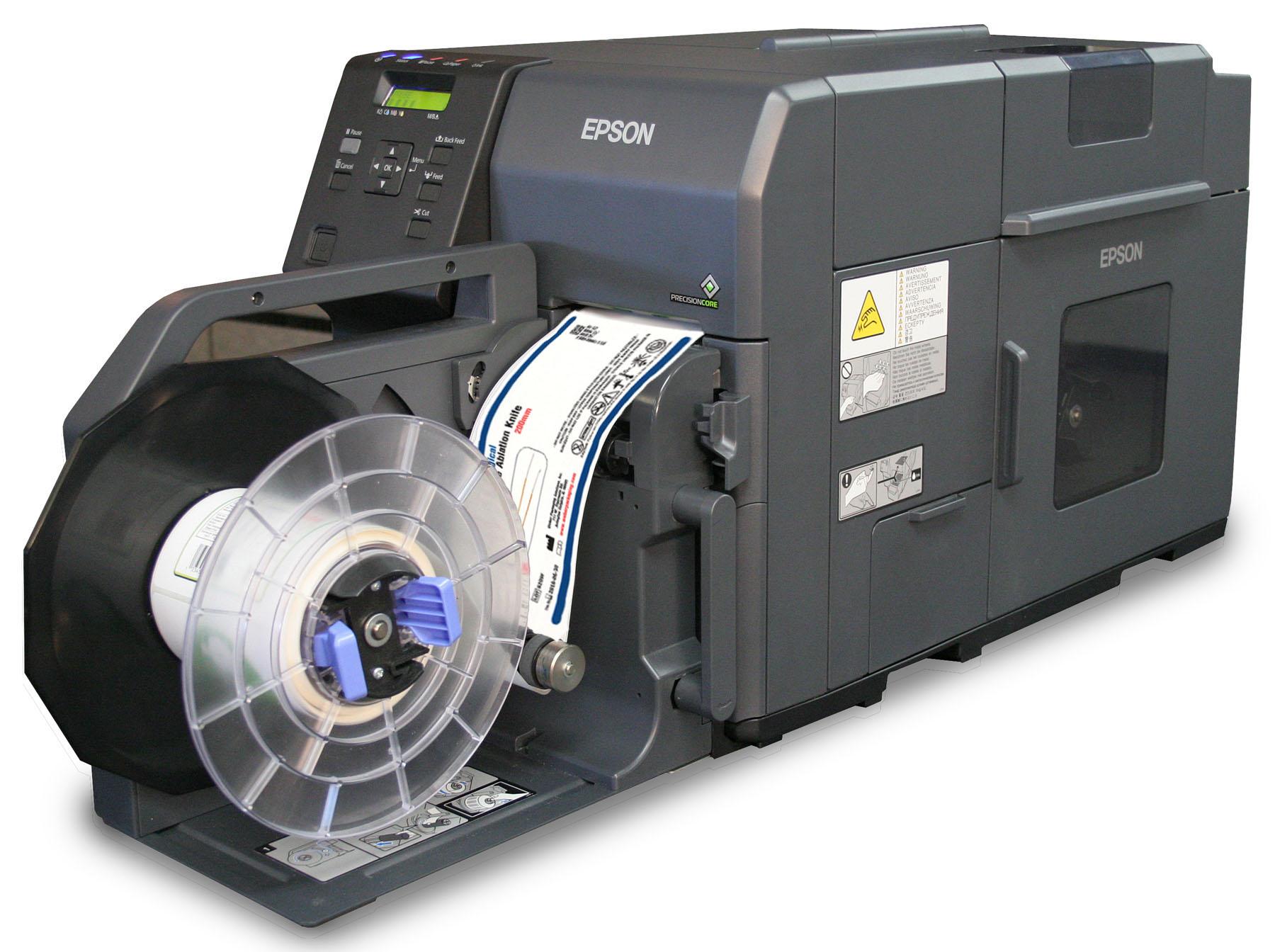 Color printer label - Epson C7500 High Speed Label Printer