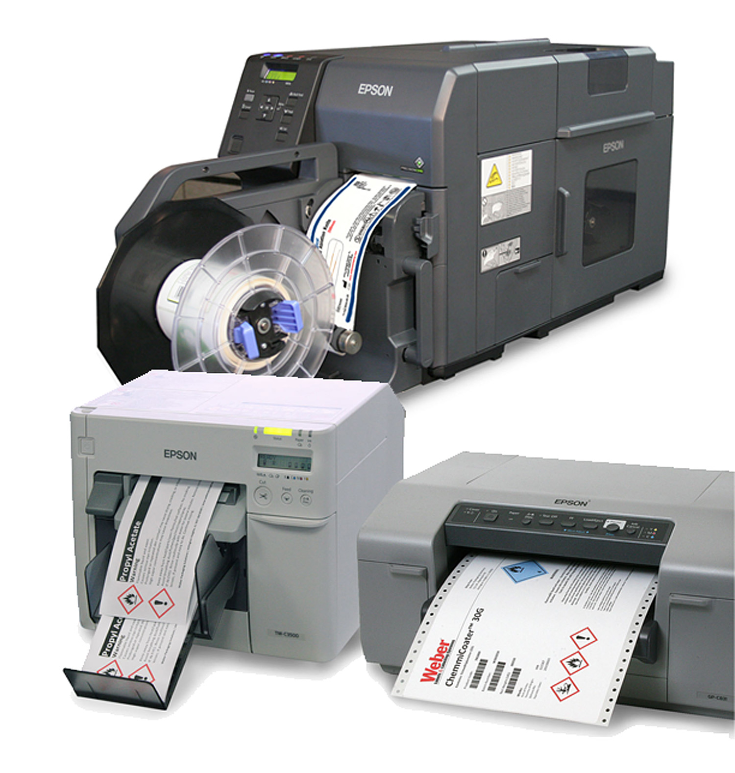Glossy Epson Ink Jet Labels - Continuous and Pinfeed/Fanfolded